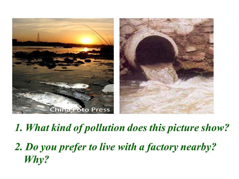 1. What kind of pollution does this picture show