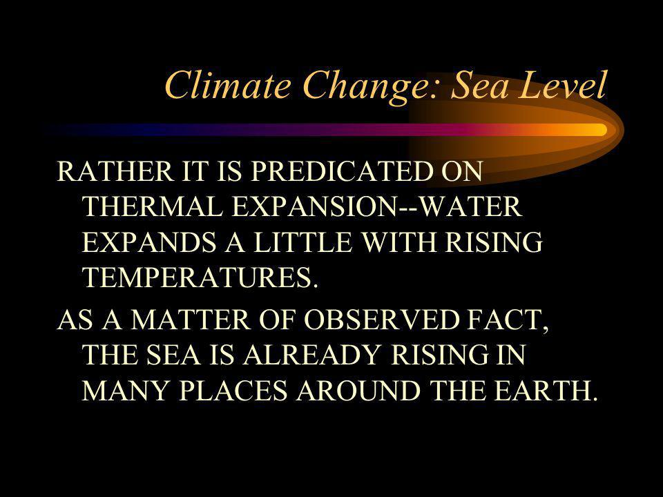 Climate Change: Sea Level