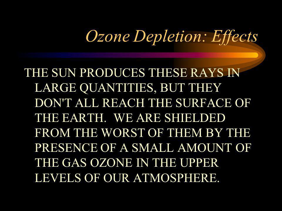 Ozone Depletion: Effects
