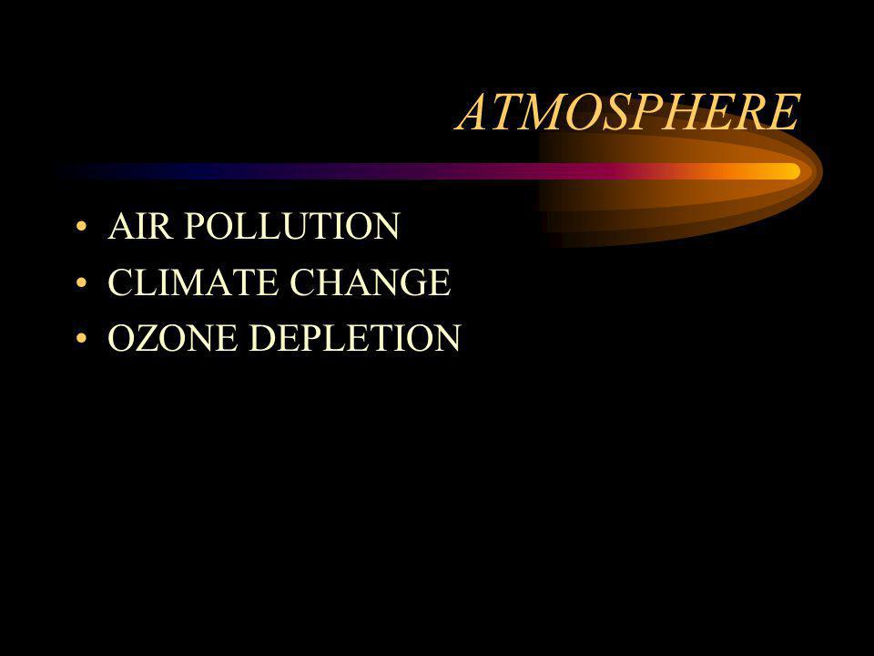 ATMOSPHERE AIR POLLUTION CLIMATE CHANGE OZONE DEPLETION