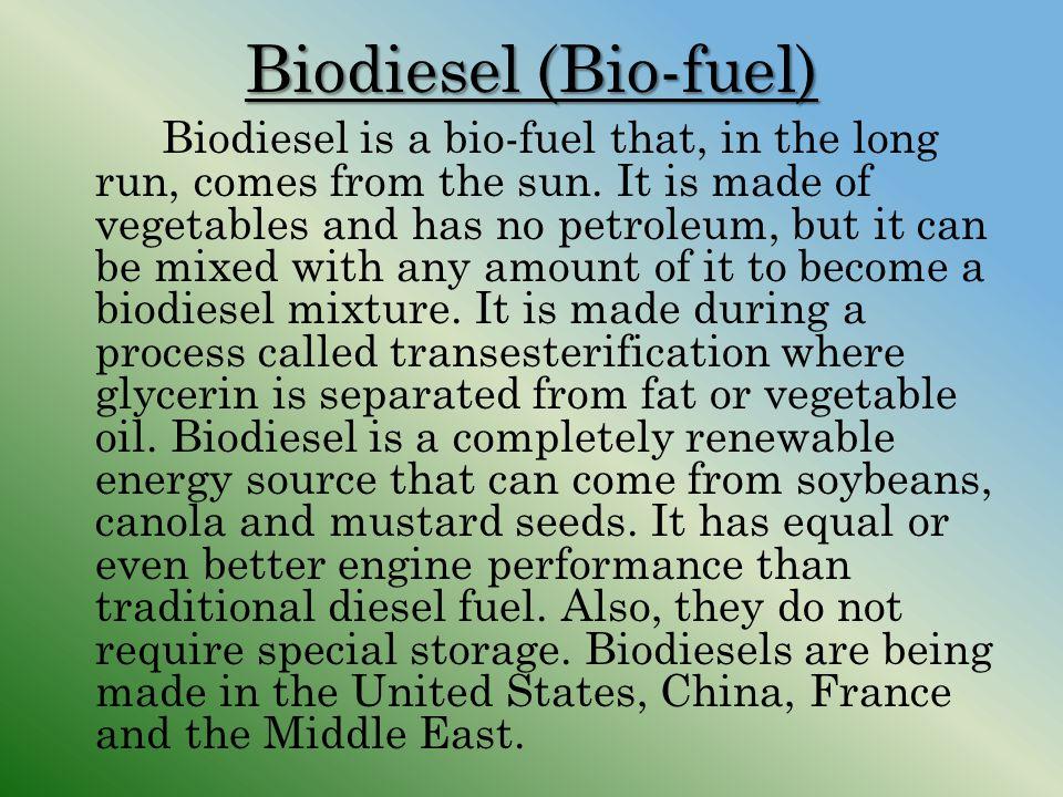 Biodiesel (Bio-fuel)
