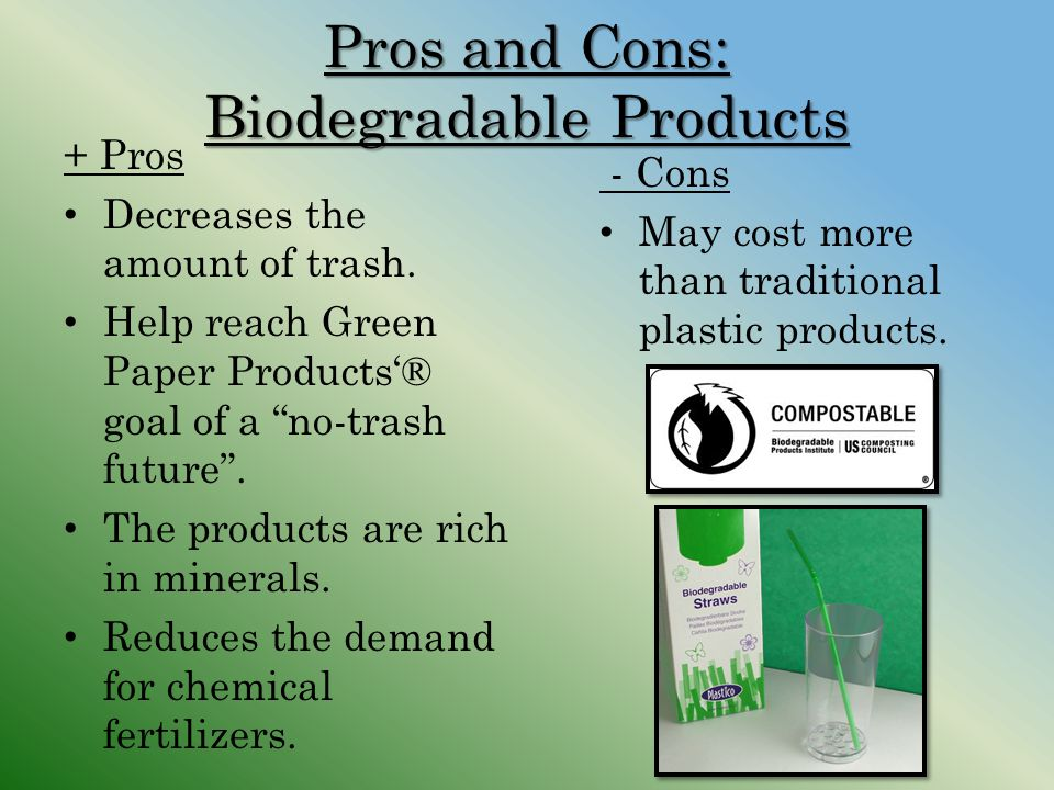 Pros and Cons: Biodegradable Products