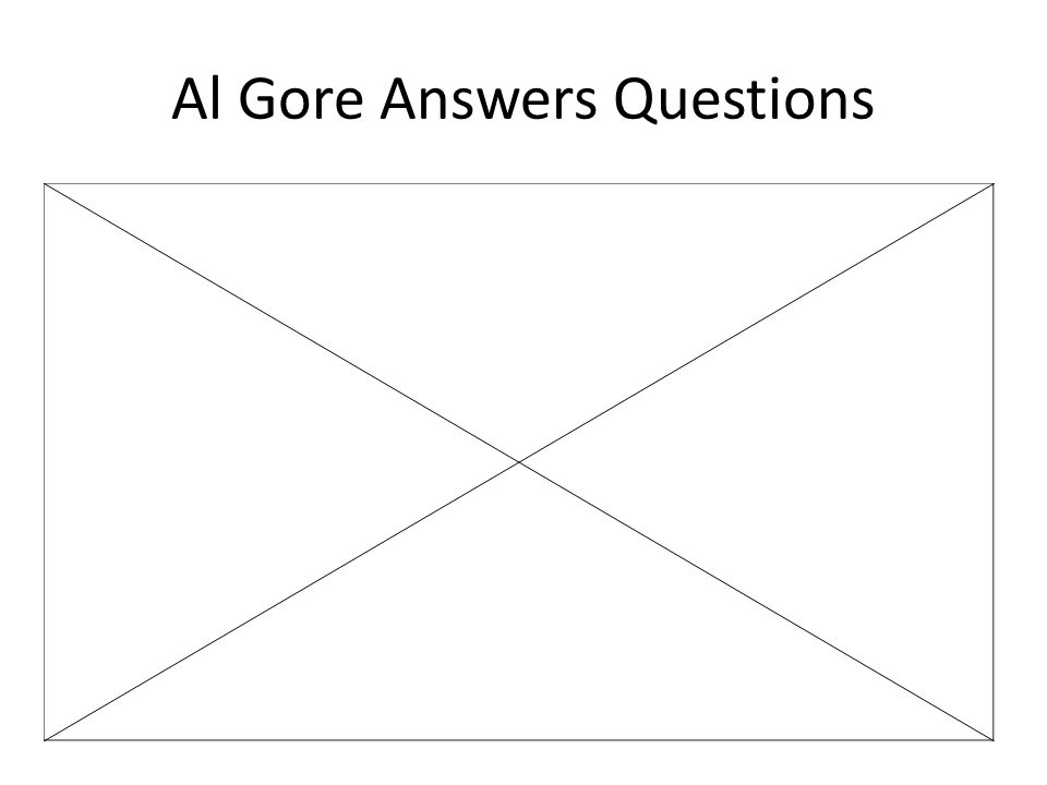 Al Gore Answers Questions