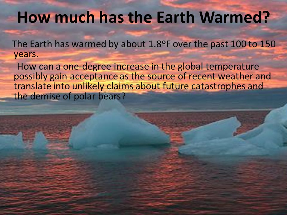 How much has the Earth Warmed
