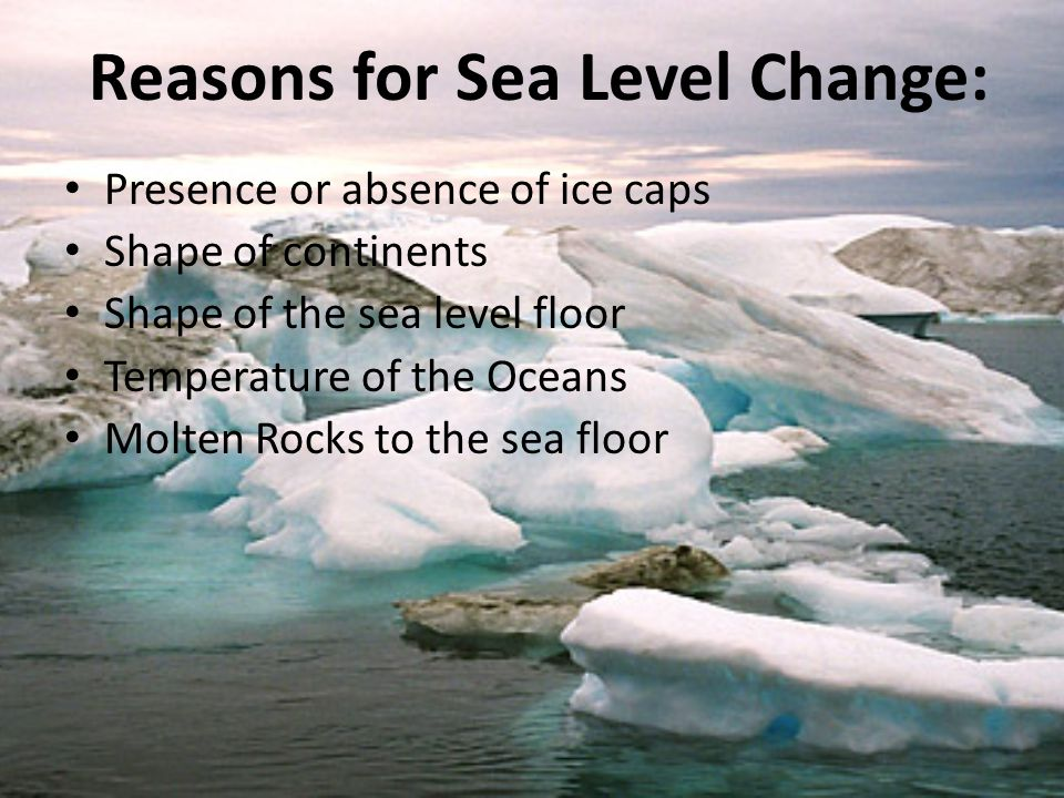 Reasons for Sea Level Change: