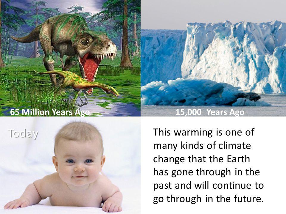 65 Million Years Ago 15,000 Years Ago
