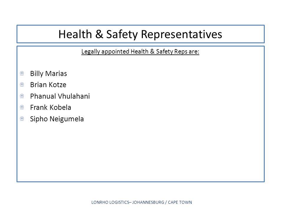 Health & Safety Representatives