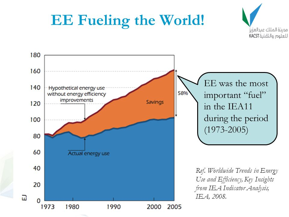 EE Fueling the World! EE was the most important fuel in the IEA11 during the period (1973-2005)