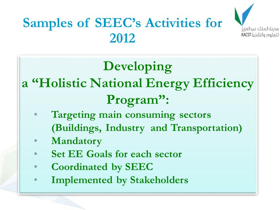 Samples of SEEC's Activities for 2012