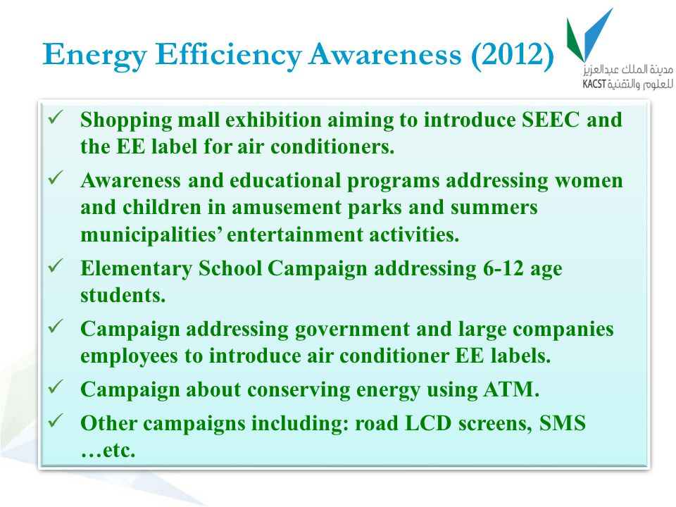 Energy Efficiency Awareness (2012)
