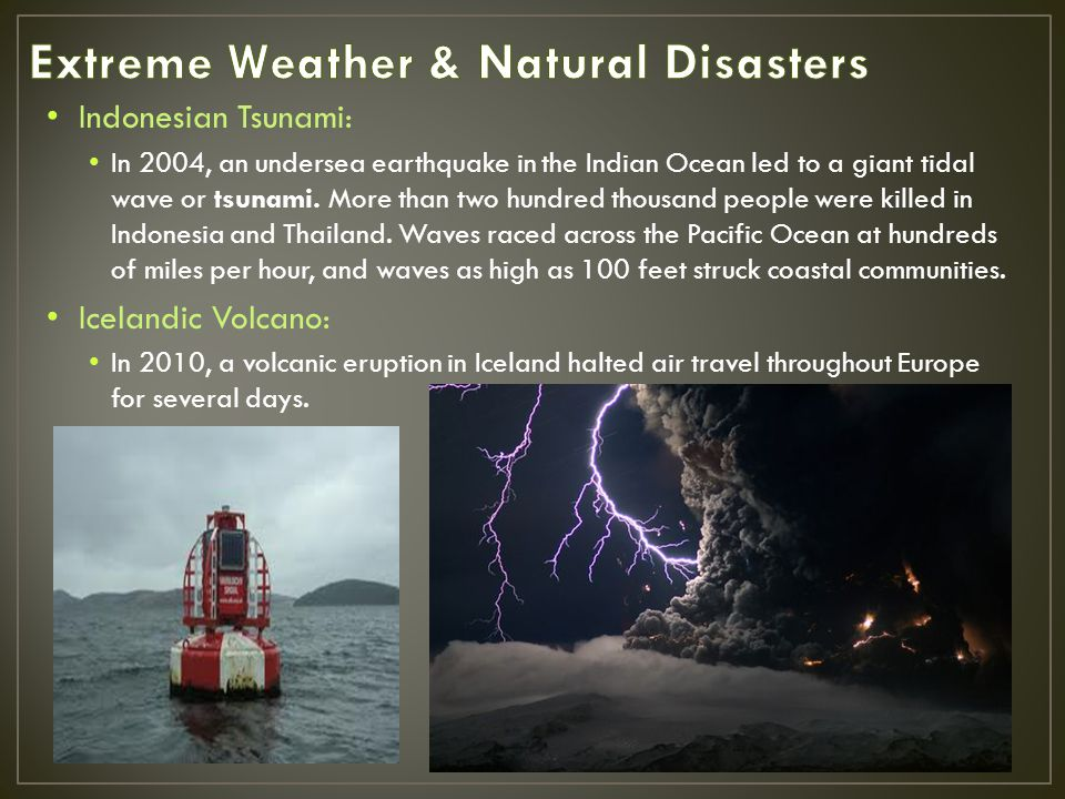 Extreme Weather & Natural Disasters