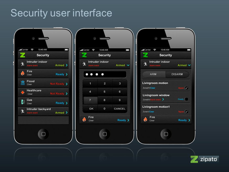 Security user interface