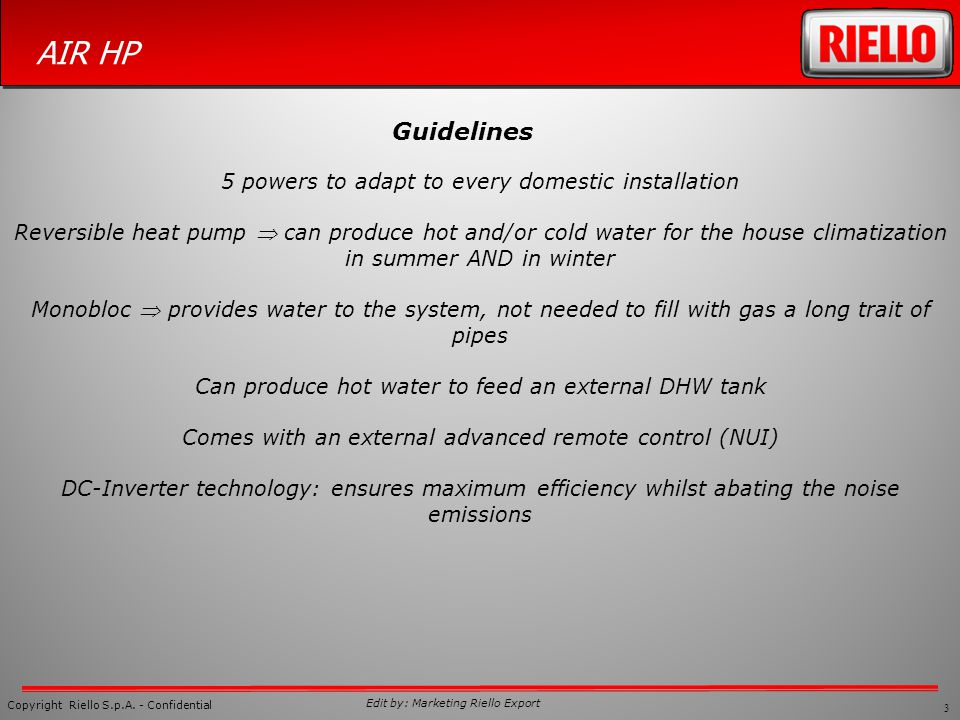 Guidelines 5 powers to adapt to every domestic installation