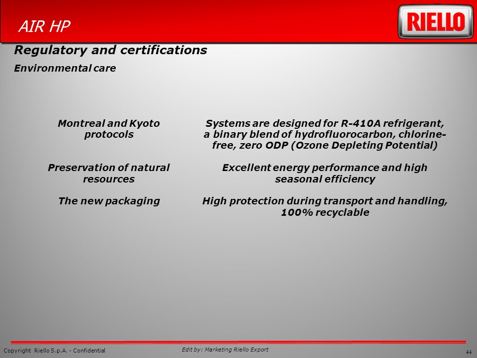 Regulatory and certifications