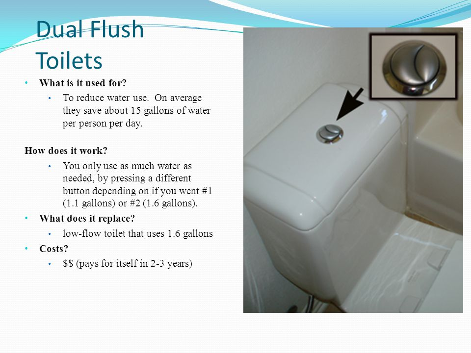 Dual Flush Toilets What is it used for