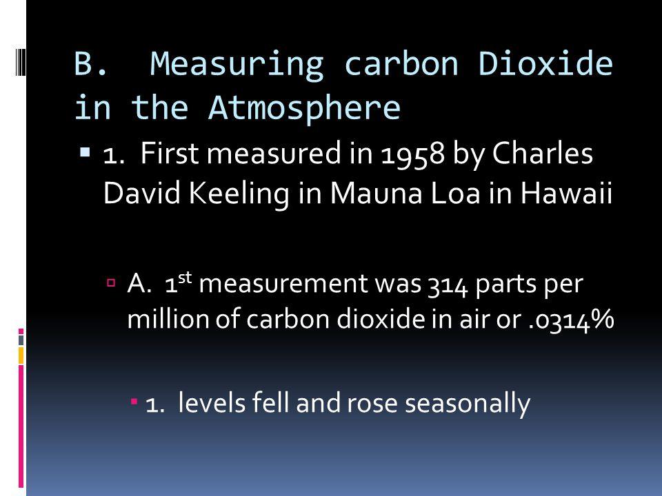 B. Measuring carbon Dioxide in the Atmosphere