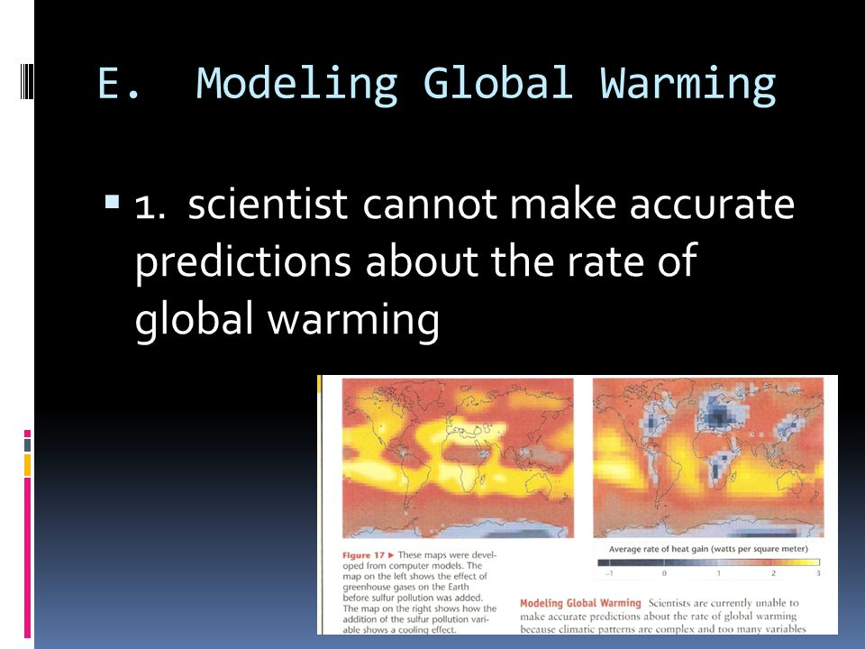 E. Modeling Global Warming