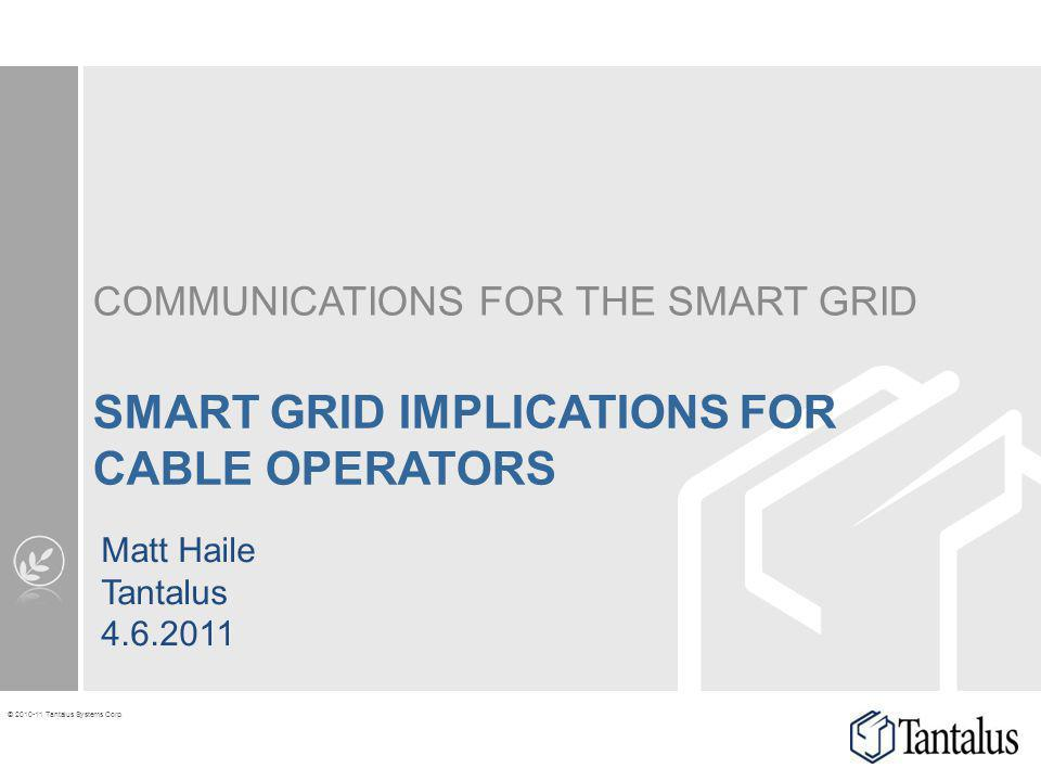 Smart Grid implications for cable operators