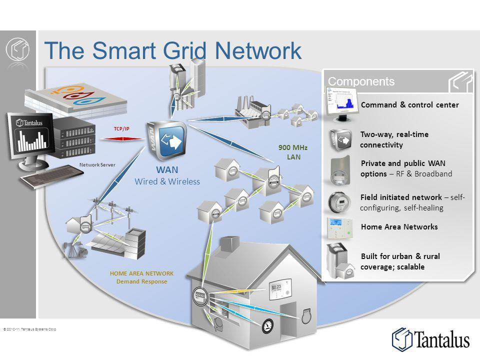 The Smart Grid Network Components WAN Wired & Wireless