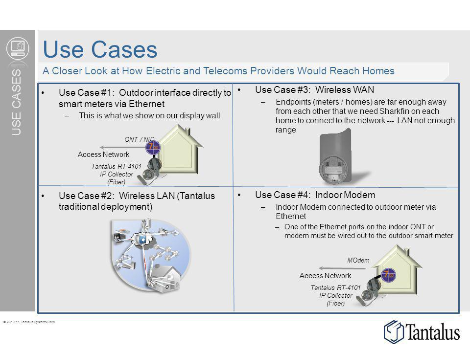 Use Cases A Closer Look at How Electric and Telecoms Providers Would Reach Homes. Use Case #3: Wireless WAN.