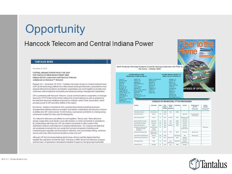 Opportunity Hancock Telecom and Central Indiana Power