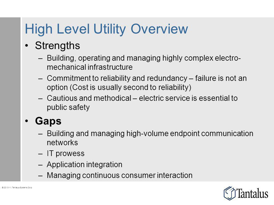 High Level Utility Overview