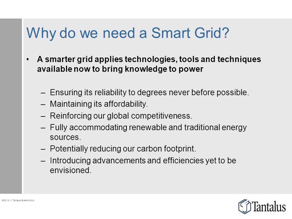 Why do we need a Smart Grid