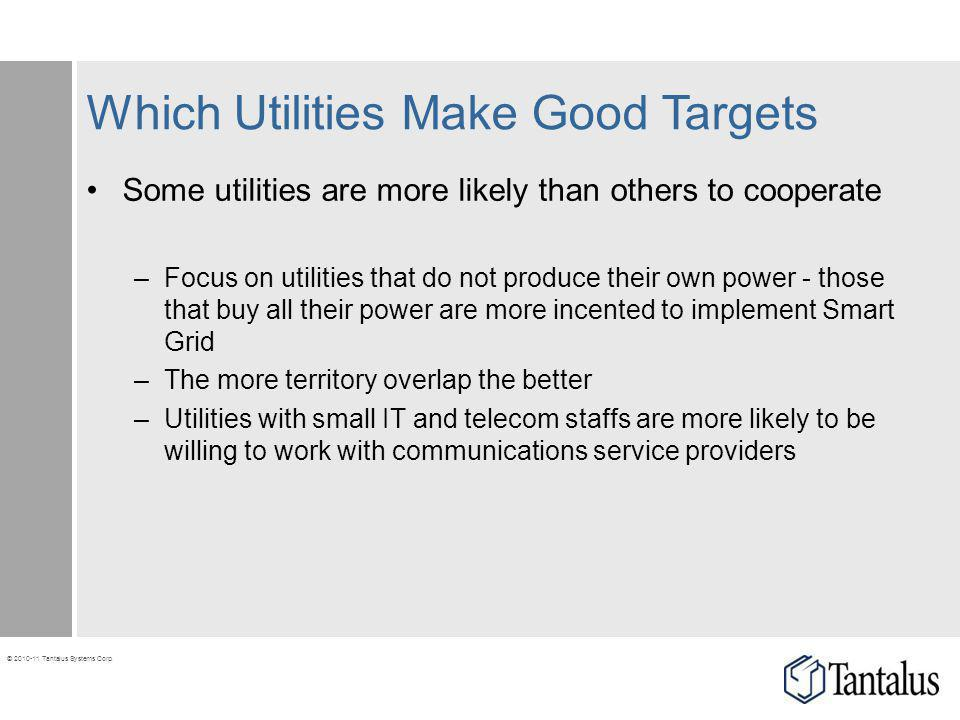 Which Utilities Make Good Targets