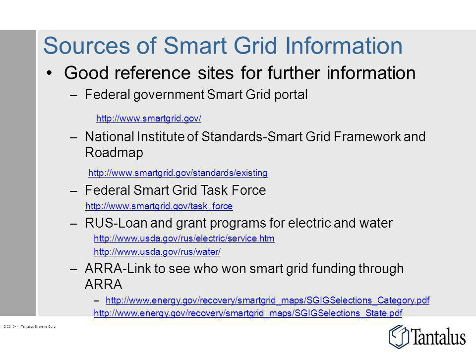 Sources of Smart Grid Information