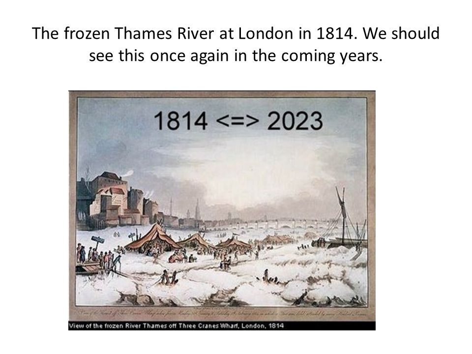 The frozen Thames River at London in 1814