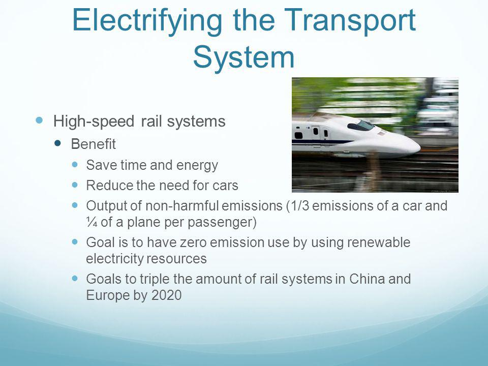 Electrifying the Transport System