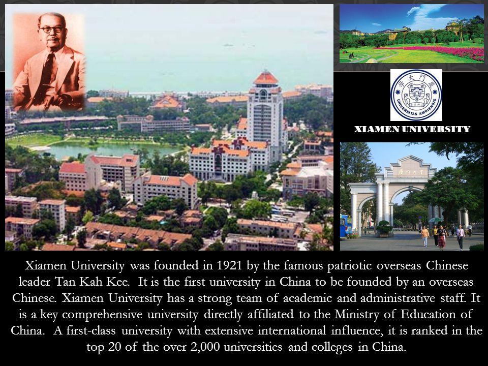XIAMEN UNIVERSITY Xiamen u.