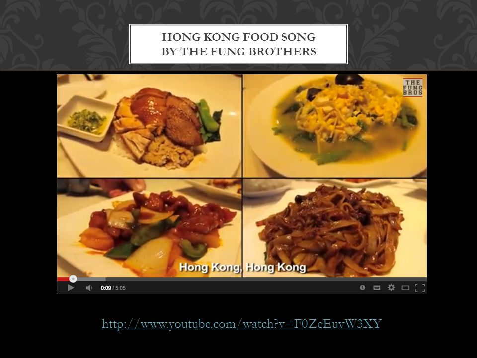 Hong Kong Food Song by the Fung brothers