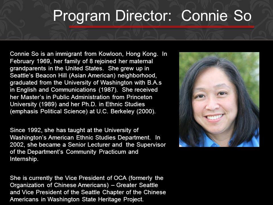 Program Director: Connie So