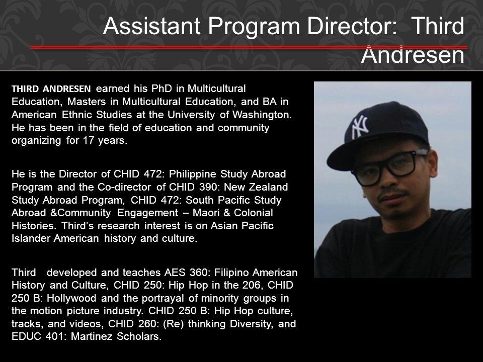 Assistant Program Director: Third Andresen