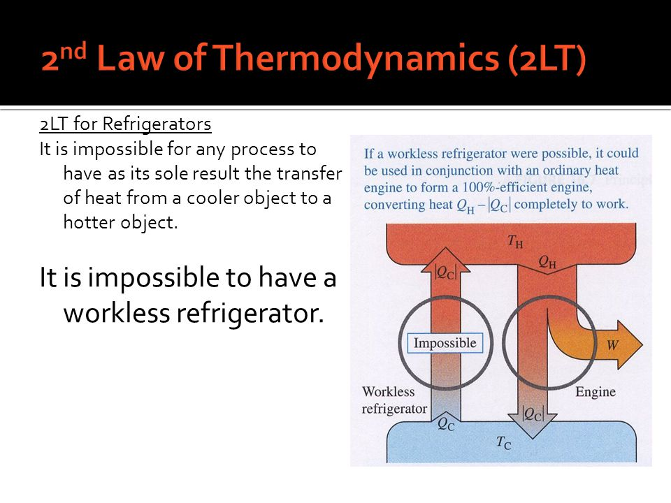 2nd Law of Thermodynamics (2LT)