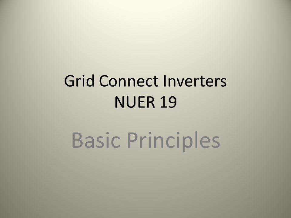 Grid Connect Inverters NUER 19