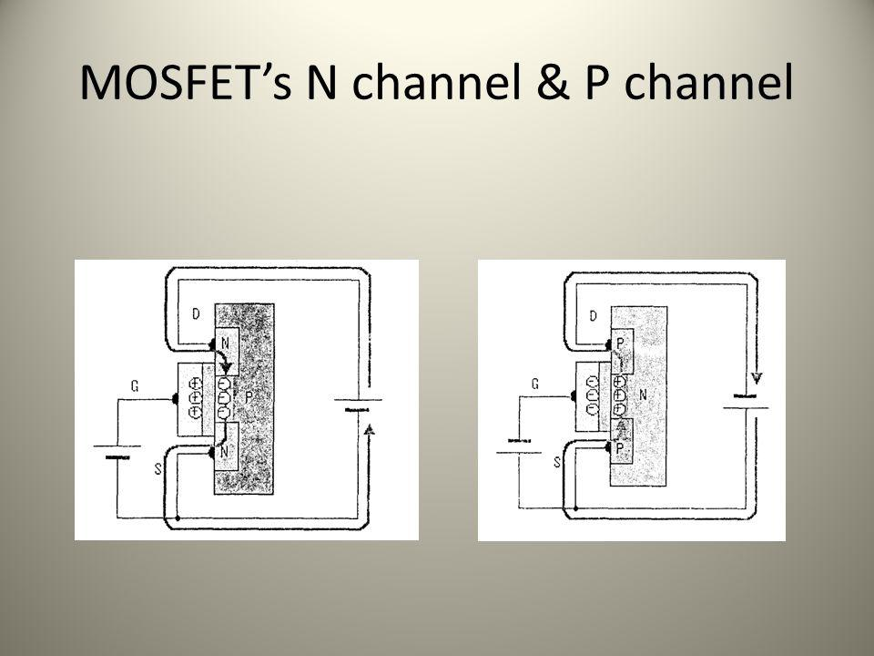 MOSFET's N channel & P channel