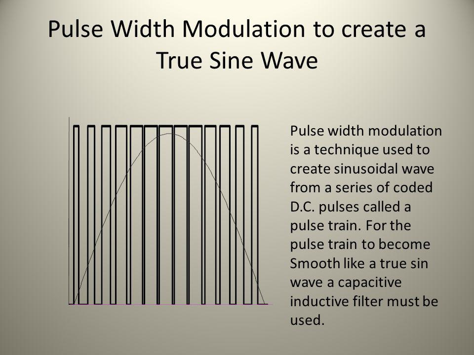 Pulse Width Modulation to create a True Sine Wave