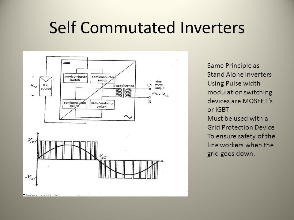 Self Commutated Inverters