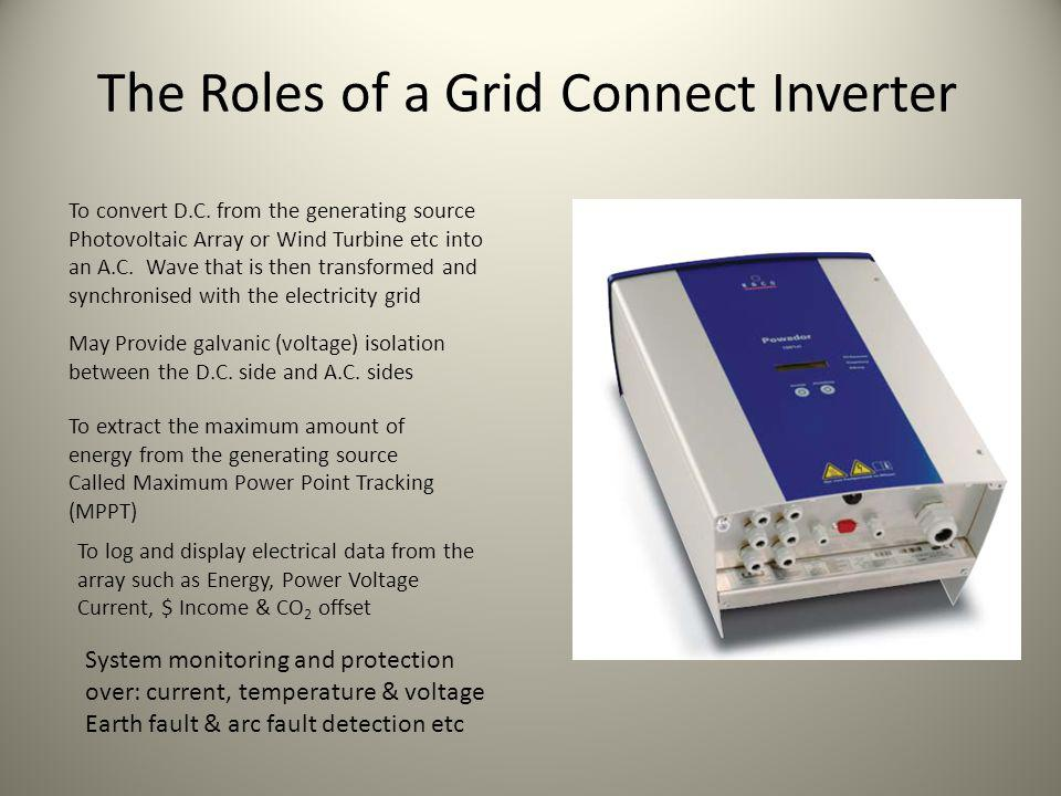 The Roles of a Grid Connect Inverter