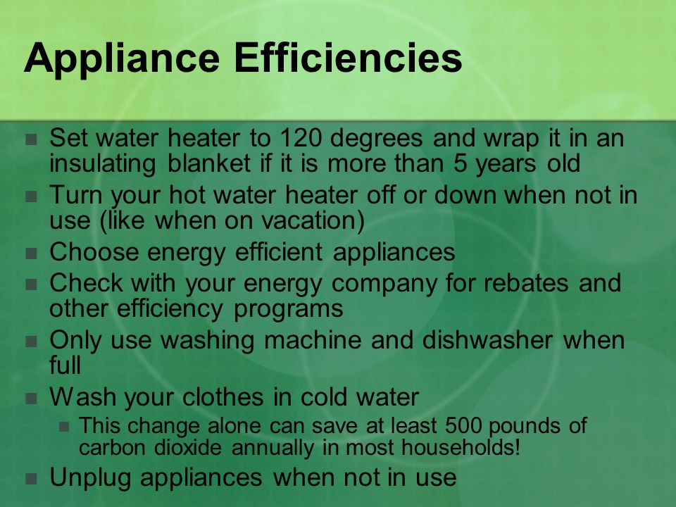 Appliance Efficiencies