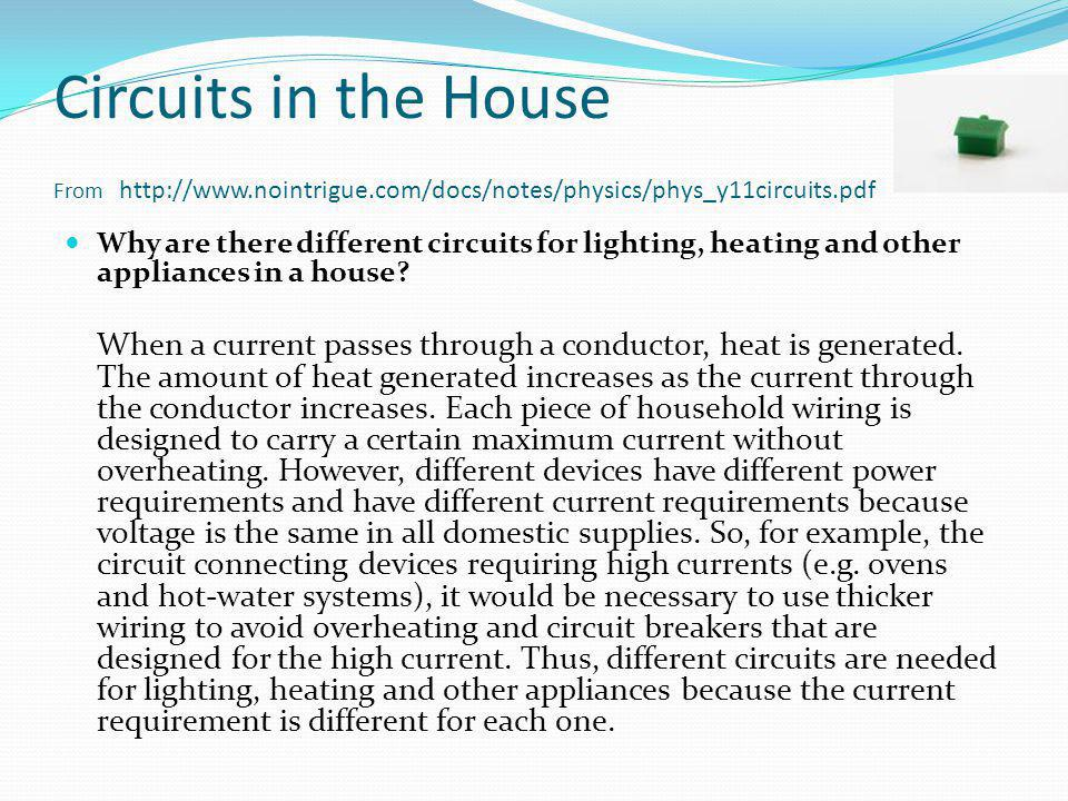 Circuits in the House From http://www. nointrigue