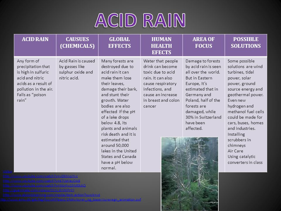 the areas in the united states at risk of acid rain and its effects China, russia, and the united states are all heavily industrialized areas that suffer from acid rain however, air pollution moves long distances by traveling on the wind as a result, many cities.