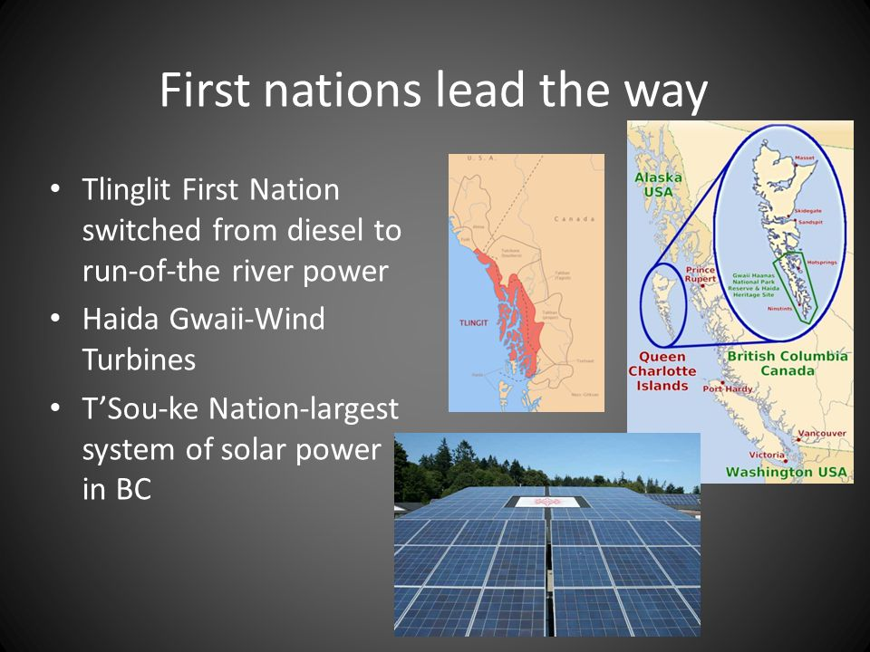First nations lead the way