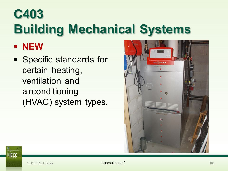 C403 Building Mechanical Systems