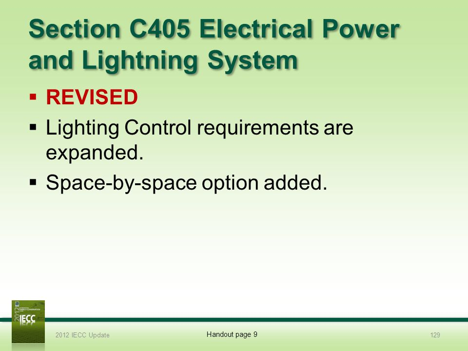 Section C405 Electrical Power and Lightning System