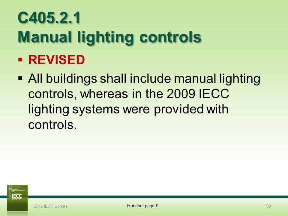 C405.2.1 Manual lighting controls