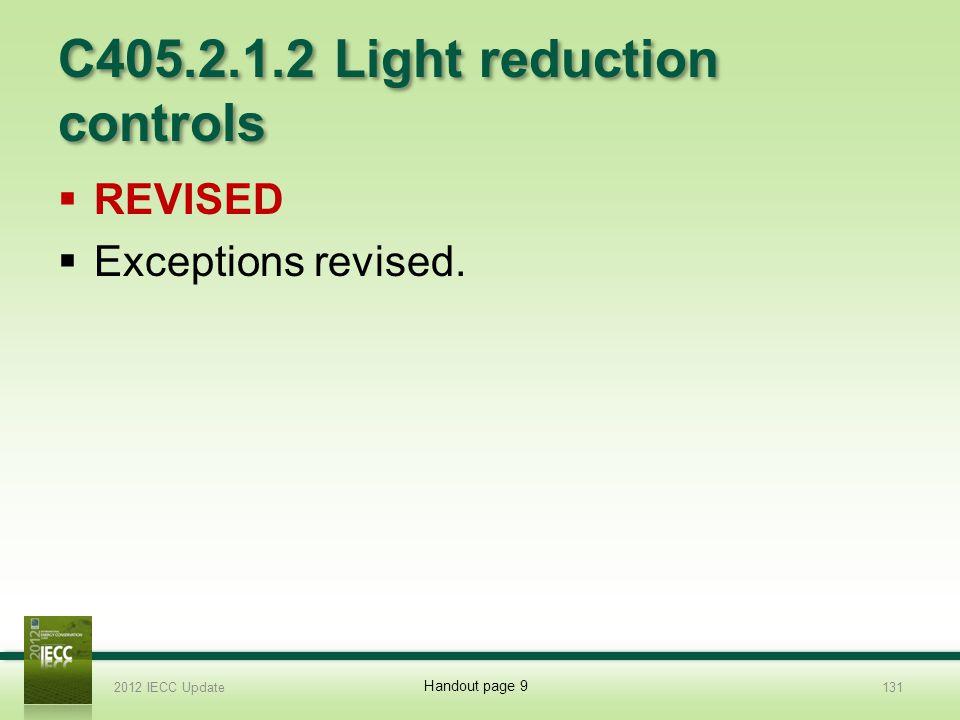 C405.2.1.2 Light reduction controls