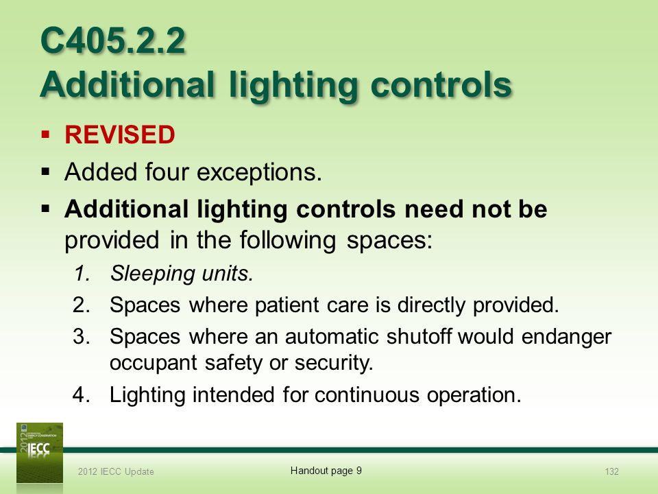 C405.2.2 Additional lighting controls